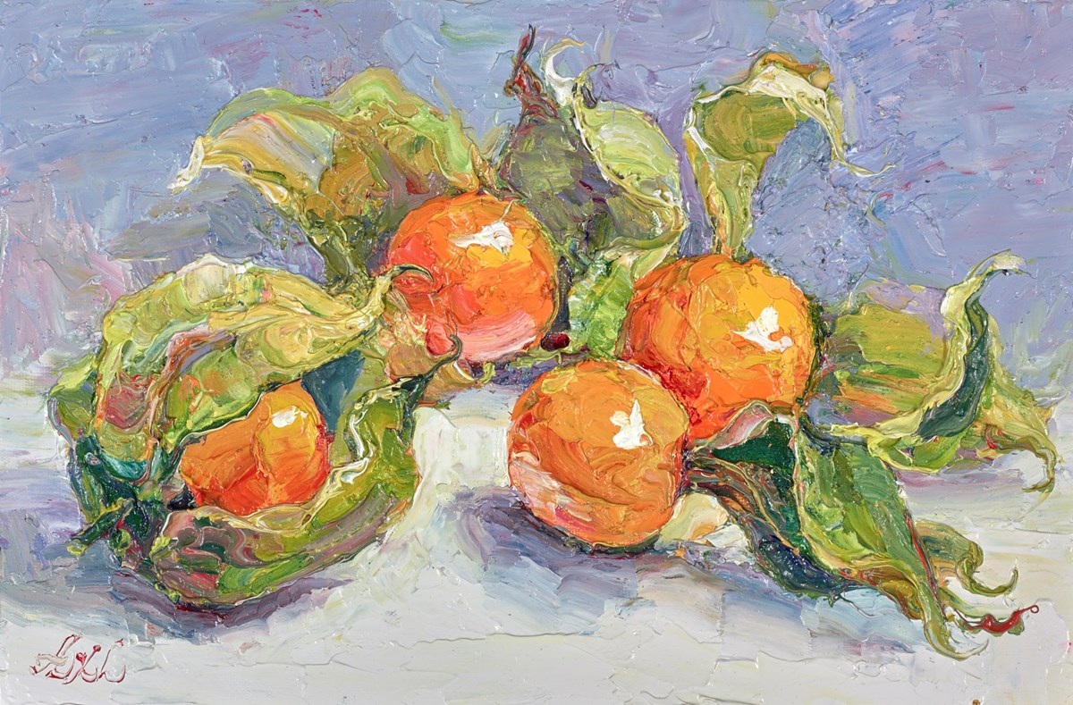 Physalis II by lana okiro -  sized 9x5 inches. Available from Whitewall Galleries